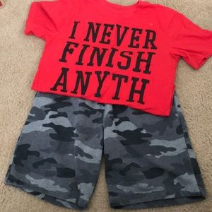 Boys shorts and tee